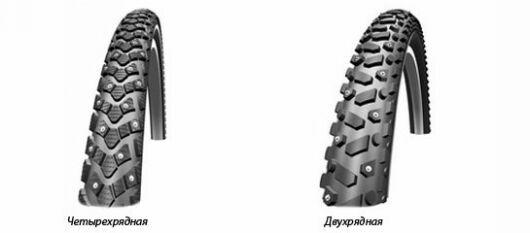 Двухрядные и многорядные велосипедные покрышки